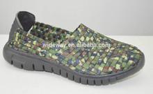 2015 new design elastic kids shoe hand woven shoe and baby shoe