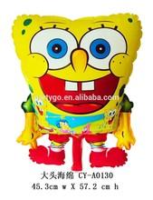 45.3*57.2cm Spongebob Aluminum balloons Happy Birthday Party Baby Shower Favors foil Balloon