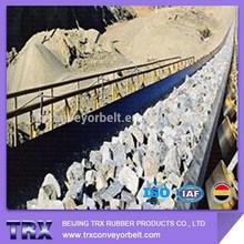 Shock resistant conveyor belt for quarry