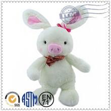 Promotion gift custom design long ear stuffed toys pig rabbit