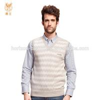 Pure Cashmere Knit Mens Sleeveless Vest