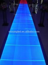 Milan fashion show display acrylic lit panel T-stage