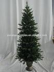 plastic flowerpot christmas tree decoration