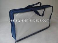 Plain no logo pillow pvc zipper bag quilt packaging bag