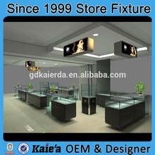 Decoration modern glass jewelry shop interior design