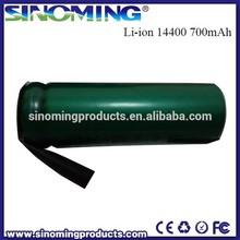 14400 Lithium battery 14400 3.7V 700mah HJL battery 3.7 volt li-ion battery