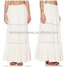 2015 China Factories Newly Designlady plain maxi long skirt
