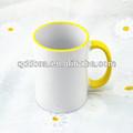 Taza de cerámica blanca de la sublimación, logotipo de oem baratos de porcelana taza de leche beber ventas al por mayor