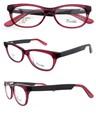 2015 óculos frame ótico do acetato com mola dobradiças das mulheres-de-rosa taça com ce fda