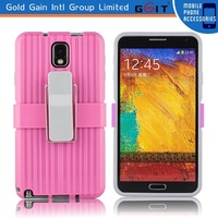 Snap-on Rubber Belt Clip Holster Protective Case with Holder for Samsung for note 3
