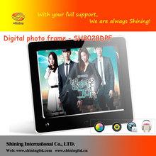 power distributor auto play music/video 8 inch digital photo frame