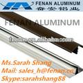 Extruido de aluminio del carril para puerta corredera de armario