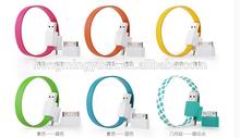 2 in1 OEM Bracelet data line data transmission USB Cable For Samsung iphone 4 4s