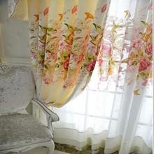 2015 colecciones de flores de colores cenefa cortina patrón