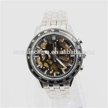 New design automatic watch, fashion skeleton watches, luxury men& ladies watch
