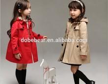 New arrival girl long dust winter coat for children