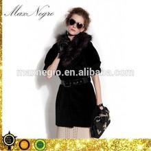 half sleeve women fox fur collar casual coats