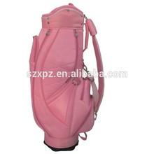 China promotion PU leather golf bag