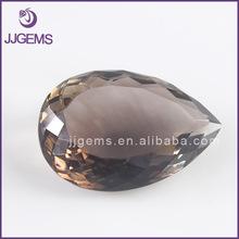 20*30mm Pear shape loose faceted smoky quartz