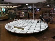Belarus auto show display led light panel acrylic lit ground panel