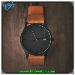 CURREN Men's Watches Sport Men Military Leather Strap Wrist Quartz Watch