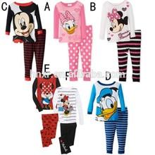 Lovely kids Boys Girls Clothing Set Children Autumn -Summer Pajamas Sets New 2015 Wholesale Kids 8-12Y pyjamas wholesale