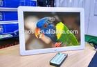 15.4 inch led digital picture frame support RM / RMVB / MKV / MOV / M4V / MPG / FLV / PMP / AVI / VOB / DAT / MP4 / 3PG.