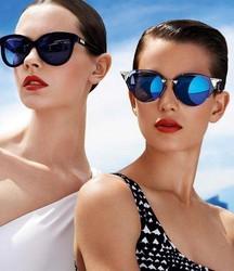 Cat Eyes Mirror Lenses Revo Lens Eye Glasses Fashion Women and Men Custom Sunglasses