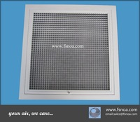 EG made in china whole sale aluminum egg crate grilles ventilation air diffuser with door hinged special sizes available
