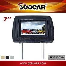 7-zoll-auto kopfstütze monitor dvd-player hd bildschirm usb sdir fm Spiel dual video-eingang-ausgang lautsprecher