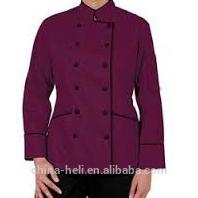 Colorido do chef uniforme para senhoras