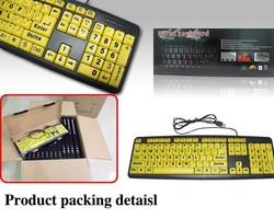 2015 For Elder people 4 times large keyboard big letter keyboard