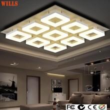 Luxury modern square acrylic led ceiling lights