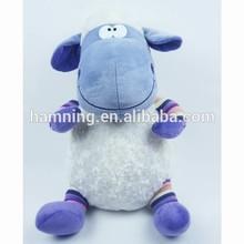 40cm stuffed sitting plush lamb with embroidery heart