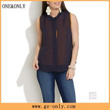 designer ladies wholesale clothing modern chiffon blouse