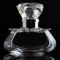 40ml cute perfume glass bottle with diamond cap fancy perfume bottle for woman fragrance toilette bottle