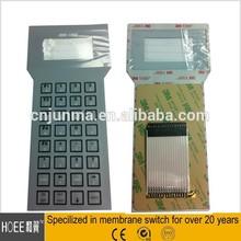 OEM custom-made polycarbonate membrane numeric keypad lcd window