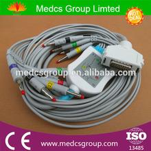 FUKUDA ME 10 lead EKG cable, 12 ECG cable for electrocardiograph