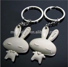 Souvenir promotional Zinc Alloy Metal Style Rabbit Keychain