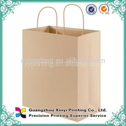 Wholesale printed paper bag grocery store brown paper bag