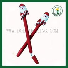 wholesale christmas gift ball pen Santa christmas pen christmas ball pen