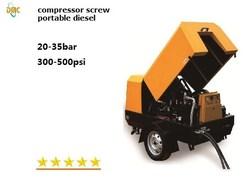 High pressure air compressor diesel portable screw compressor 30bar 450psi
