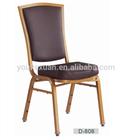 Youkexuan high grade aluminum banquet chair D-808
