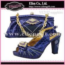 Beautiful Italian Shoes and Bag Set YE2157-Sapphire