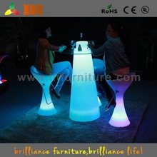 party furniture,outdoor high bar tablem,rechargeable led bar table