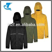 2014 New Design Waterproof Rip Stop Men's Rain Jacket