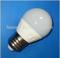 3W 4W E27 E14 LED spotlight ceramics G45 bulb shape RA80, PF 0.9, dimmable