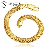 Handmade New Arrival Tin Alloy Gold Plated Bracelet Hand Chain for Men