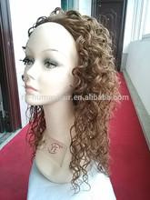 kanekalon fiber long wig lace front wig hot selling in american