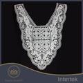 chegada nova bordados de algodão branco senhoras gola laço de design para vestidos de noiva